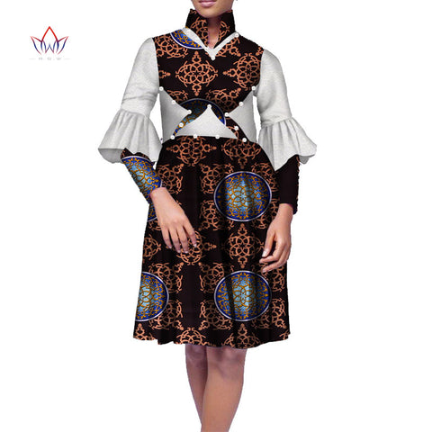 Plus Size Africa Dress For Women African Wax Print Dresses Dashiki Plus Size Africa Style Clothing for Women Office Dress WY1635 1