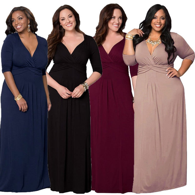 2fbbbdbba7c0 Plus Size Dress 5XL 6XL Hot New Sexy Elegant 2018 Spring Summer Plus big  Large size. Hover to zoom