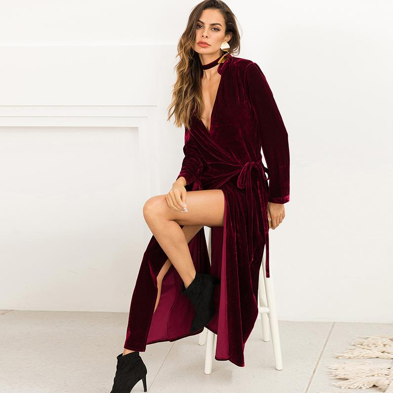 3ab7db540a0 ... Plus Size Long Velvet Kimono Cardigan Mujer 2018 Autumn Winter Women  Oversize Trench Coat Skirt Clothes ...