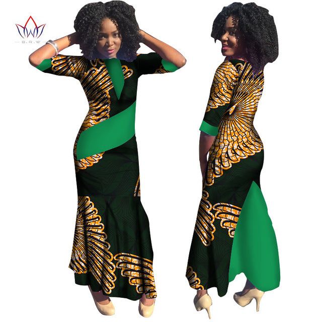 ae9a23463578 ... Plus Size Summer dresses women 2018 traditional african fashion  Clothing Africa Wax Dashiki long cotton dress ...
