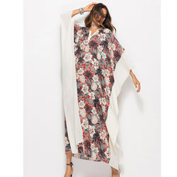 Plus Size Women Summer African Ethnic Print Kaftan Maxi Chiffon Dress 2018 Summer Loose Vintage Boho Beach Long Dress AD510