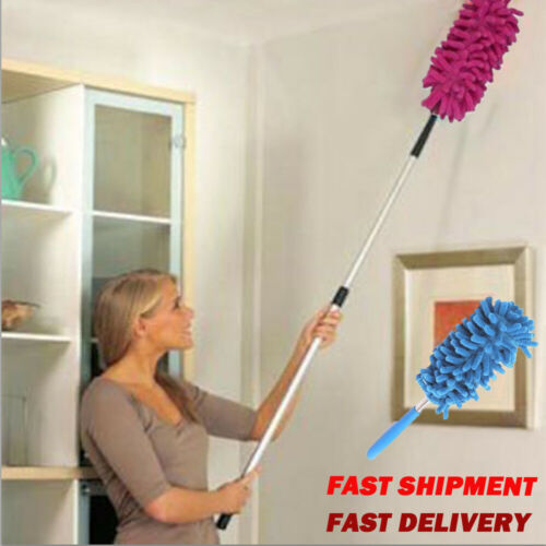 Extendable Telescopic Magic Microfibre Cleaning Feather Duster Extending Brush Household Supplies & Cleaning Cleaning Products