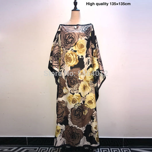 Printed Dresses For Women 2020 Fashion Design Loose Dress Batwing Maxi Long Femme Vestidos Summer Autumn Party Elegant Dress