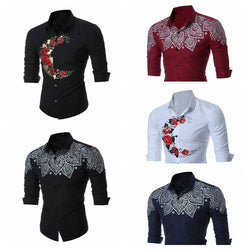 Promotion Hot Sale Cotton The Fall Of 2018 Men's Long Sleeved Shirt African Men Clothing