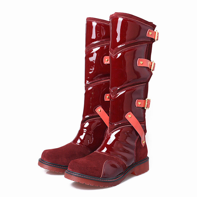 9d2bcd206521 Prova Perfetto Punk Style Women Martin Boots Platform Flat Botas Mujer  Straps Buckles Rubber Shoes Woman. Hover to zoom