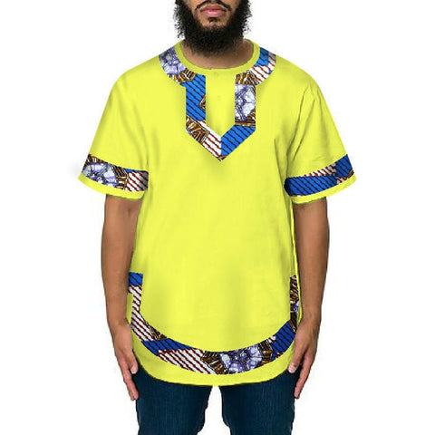 Robe Africaine Hot Sale Top Fashion Dashiki 2018 Men's Clothing Of Men T-shirt Stitching Plus-size Cotton  Cloth