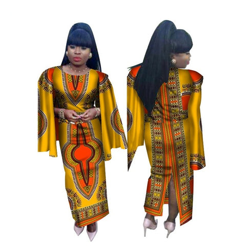 Robe Africaine Rushed Hot Sale Cotton Women 2018 African New  Fashion  African  Women plus size Clothing