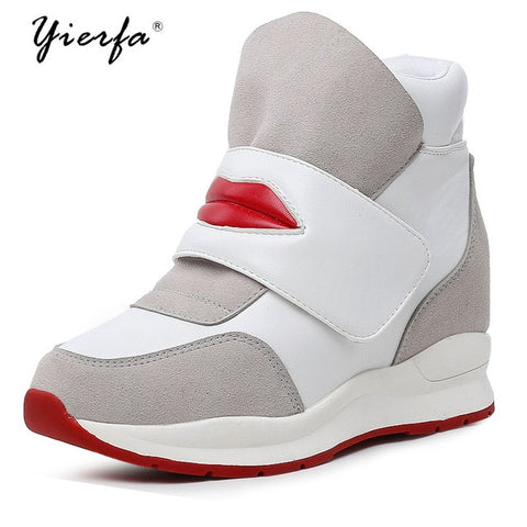 Running Hiking Thick Bottom Platform Wedges Shoes Woman sports Sneakers Spring Winter Fashion Ladies Students Shoes casual Shoe