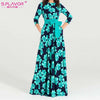 Image of S.FLAVOR Women printing autumn dress  Elegant O-neck loose style long party dress for female Hot sale women vestidos No pockets