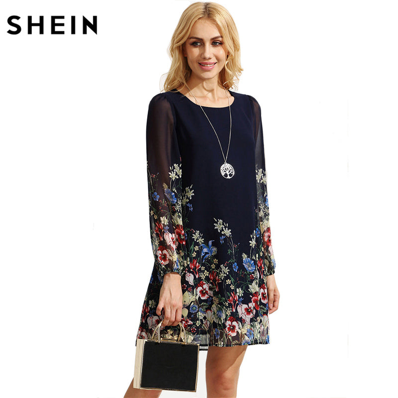 5a0119a96d Hover to zoom. PrevNext. Image of SHEIN Casual Autumn Boho Dresses for Women  Multicolor ...