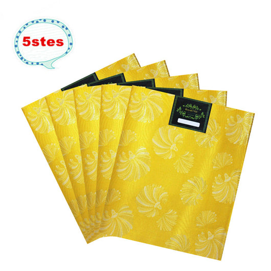 SL-1421 Express transportation 5sets10pieces african SEGO HEADTIE Gele headtie 2pcs/set 5sets/lot High Quality YELLOW