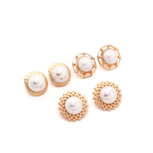 Fashion Simple Round Hollow Personalized Simulate Pearl Bracelet Cool Jewelry