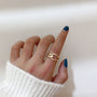SRCOI X Hollow Metal Cross Open Adjustable Finger Rings 2019 New Fashion Contracted Simple Alloy Ring For Women Party Jewelry