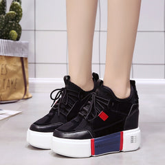 ... SWYIVY Women s Vulcanize Sneakers Platform Wedge 2018 Autumn New Female  Casual Shoes Canvas Breathable Lady Fashion 4d5960d635dd