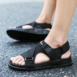 Sandals Men shoes 2018 Gladiator Men's Sandals Roman Men Shoes Summer Flip Flops Gray Black Flat Sandals Large Size 45 46