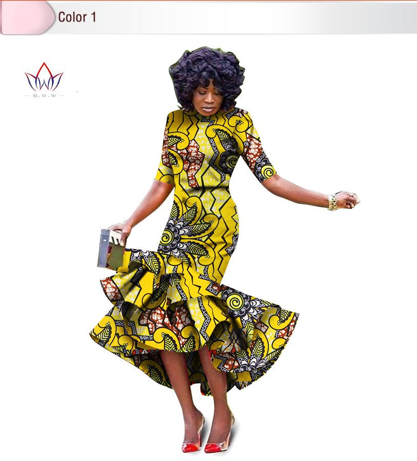 African bazin riche printed Dress For Women,Dashiki Dress,African Dress,African Clothing