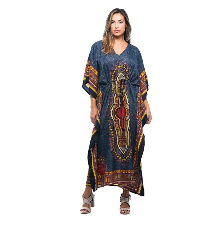 9af47946c2b42a African Print Dashiki Maxi Caftan For Women at Amazon Women's ...