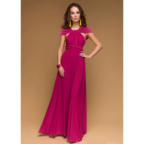 75e297dc5985 ... Image of Sexy Women Multiway Wrap Convertible Boho Maxi Club Red Dress  Bandage Long Dress Party ...