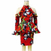 Image of African clothing women clothing Off-the-shoulder dress autumn fashion ankara printing Casual Party Dresses wax fabric
