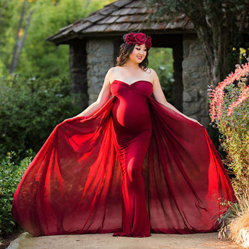 fb0a846441b62 Hover to zoom · Shoulderless Maternity Dresses For Photo Shoot Maternity  Photography Props Pregnancy ...