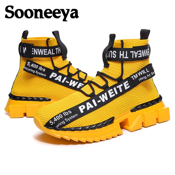 Sooneeya Classic Retro High Top Walking Shoes Men Personality Vulcanize Shoes Sneakers Men Trainers Big Size Zapatos Hombre 4546