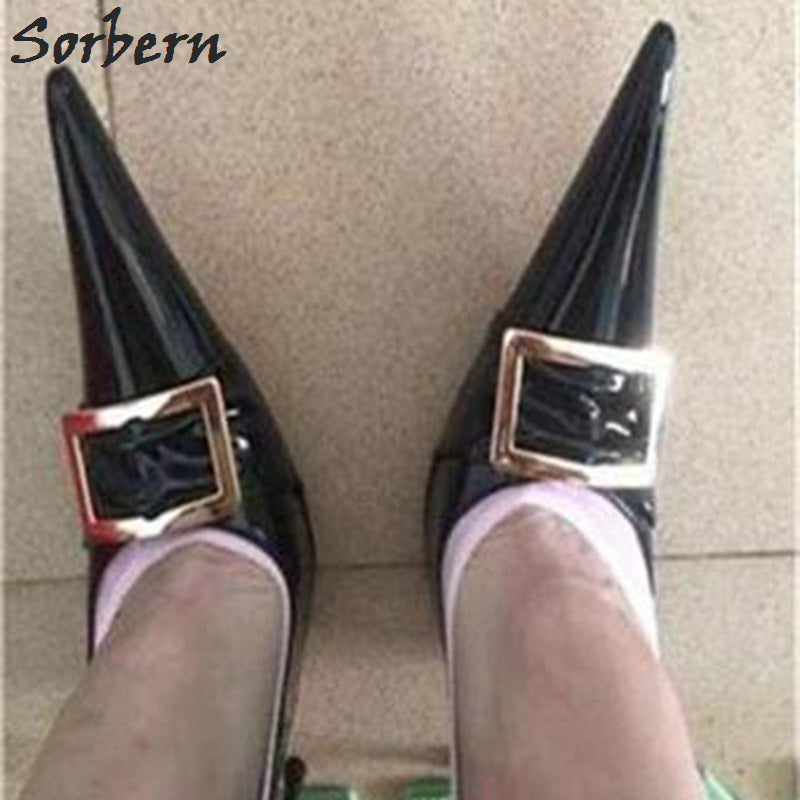 127c5cb77aa3 Hover to zoom · Sorbern Sexy 16Cm 18Cm Ultra Thin Metal High Heels Shoes  Pointed Toe Ladies Pumps Unisex Chinese