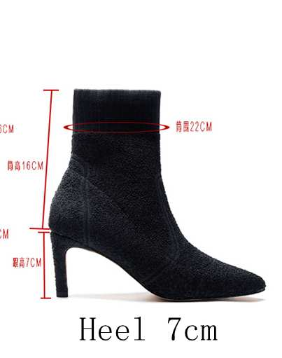 b36ece3bae Hover to zoom · Sorbern Stretched Fabric Ankle Boots Women 9CM/7CM High  Heels Pointed ...
