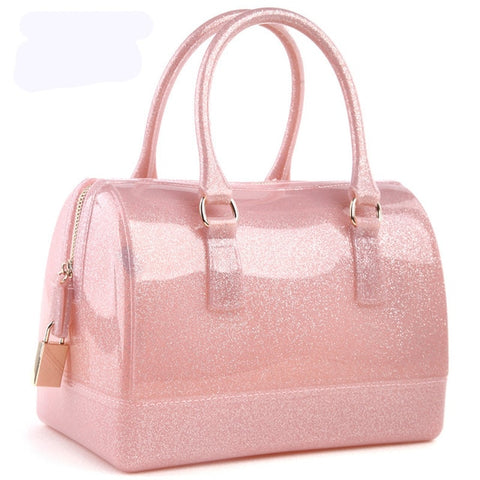 Spring Summer Luxury Patchwork Women Silicon Candy Transparent Pillow Crossbody Messenger Bags Handbags Bolsa Feminina 40