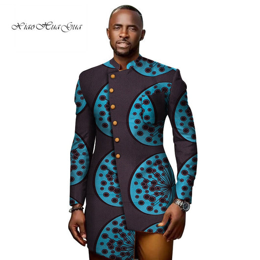 Stock Size Low Price African Print Patchwork Stand Collar Blazer African Style Clothing WYN706