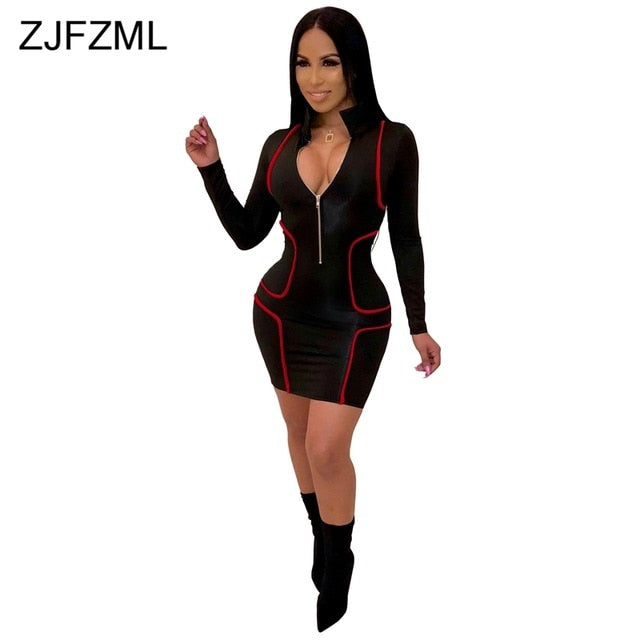 cd0d63254c9 Hover to zoom · Striped Patchwork Sexy Plus Size Dress Women Turn Down  Collar Full Sleeve Pencil Dress Streetwear Color