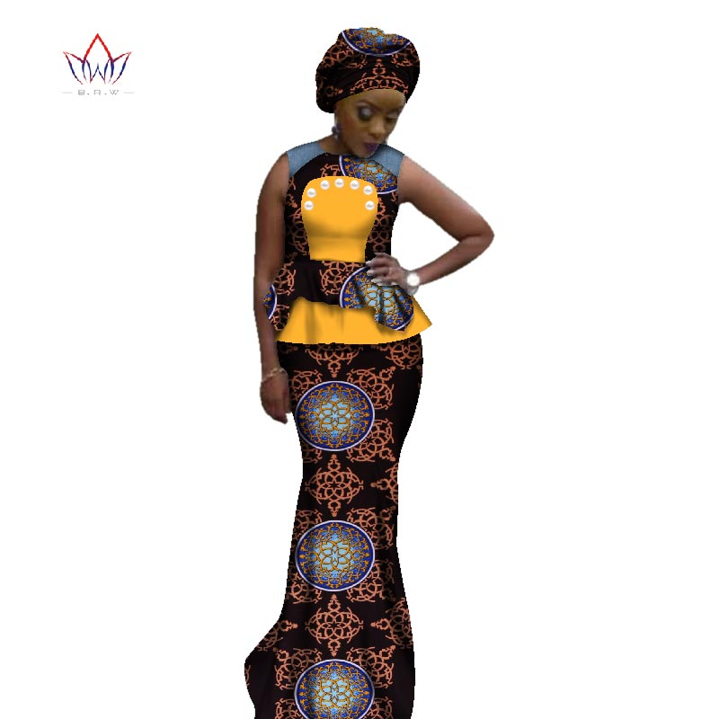 209826d48536 Summer 2018 African Skirt Set For Women Dashiki Plus size New Style African  Clothes Bazin Riche ...