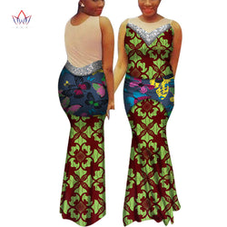Summer African Cotton Plus Size Clothing For Women African Style Long Dress Bazin Riche Print Womens Clothing Dresses WY7040