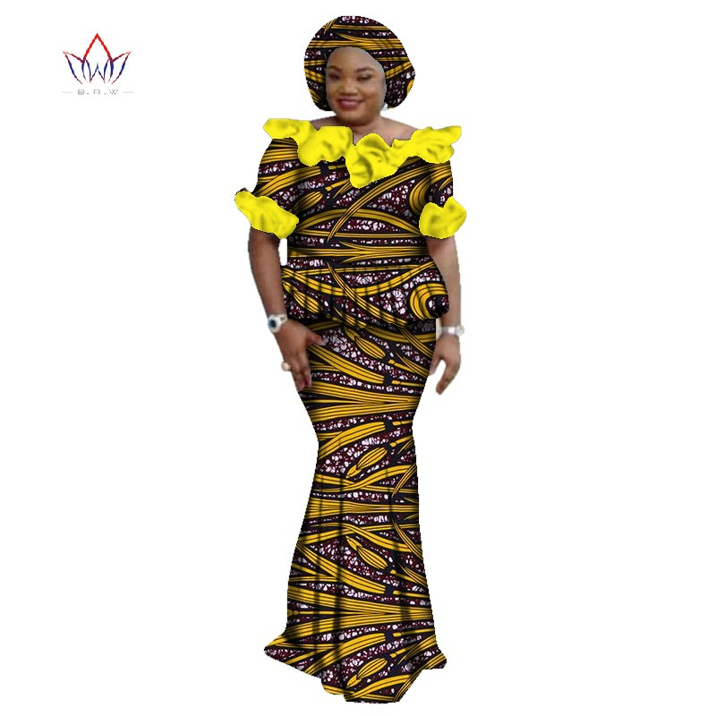 d2ebfc1b25280 Summer African Print Skirt Sets Dashiki Free headtie Skirt and Crop Top  Skirt Set Traditional African Clothing WY3063 1