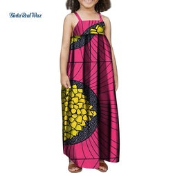 Summer Children Clothing African Print LaceDress for Kids Girls Baby Children Bazin Riche Traditional African Clothing WYT324