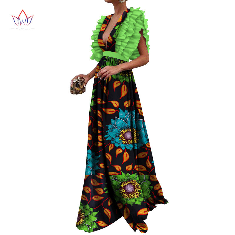 0f3cd14c725b2 Summer Dress 2018 African Dresses for Women Dashiki Elegant Party Dress  Plus Size Traditional African Clothing WY3318