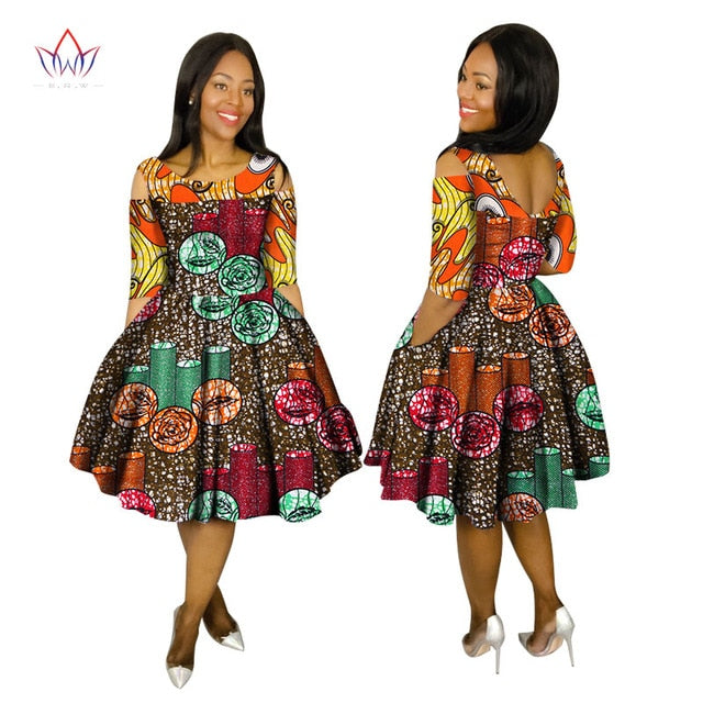 Summer Dresses Plus Size 2018 Women Fashion Dress 6XL Vestidos De Festa  Longo O-Neck cloth africa print clothing 6xl BRW WY1503