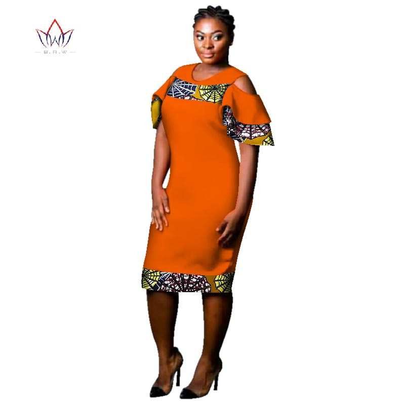 29608a5d41 Hover to zoom · Summer Dresses Women Dashiki African Print Dress Ruffle  Sleeve Bodycorn Dresses Knee Length Plus Size Women