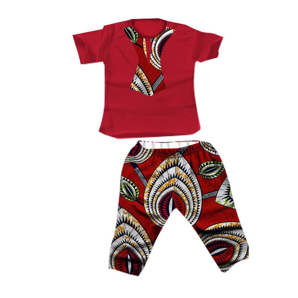Summer Kids 2020 News African Clothes Baby Boy Top Pants Suit Dashiki Print Bazin African Dresses for Women Men Clothing