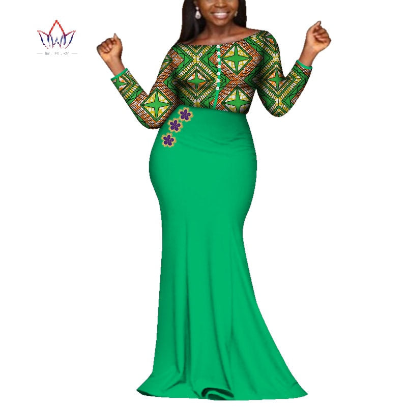 Summer Maxi Dresses 2019 New Style African Dresses for Women Vestidos  African Clothing Dashiki Plus Size Party Dresses WY3981