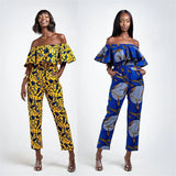 Summer Strapless Jumpsuit 2020 Ladies Shoulder Off African Clothes Elegant Plus Size Pants African Dresses for Women Trousers