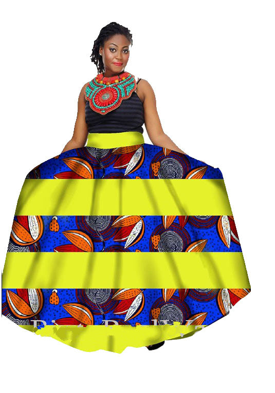 d53eb9bcbe Hover to zoom · Summer Women Clothing African Print Skirts Long African  Skirt Ankle-length Skirt ...