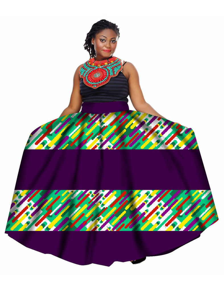 82bdcc6cb9a28 Summer Women Clothing African Print Skirts Long African Skirt Ankle-length  Skirt OverSize 6XL Women ...