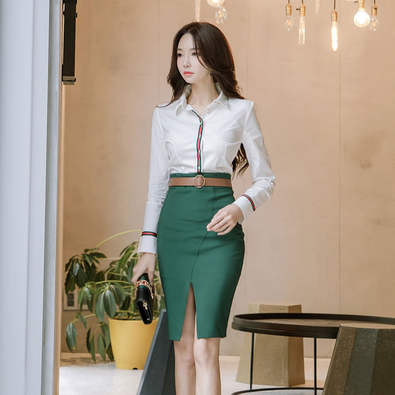ec5c1778f3 ... Front Split Bodycon Skirt Office Ladies Package Hip Vintage. Hover to  zoom