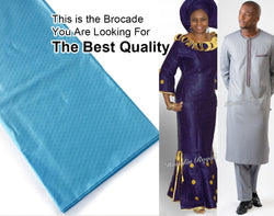The Best quality 10 yards Atiku lace soft genuine brocade bazin riche fabric 100% cotton for sewing men and women Garment dress