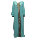 Tilapia new kaftan style women dress maxi long vintage gowns plus size summer autumn jurken loose fitting dress
