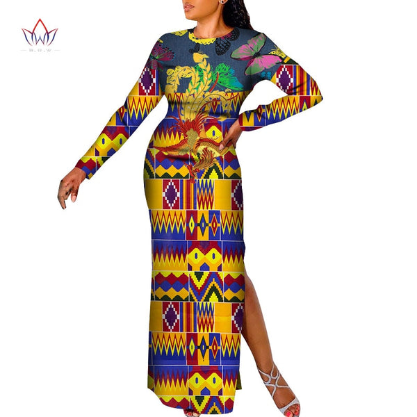 Traditional Clothing For Women Vintage dress  plus size dresses for women 4xl 5xl 6xl African style Dashiki long dress WY7043