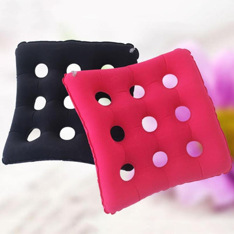 Image of Travel Inflatable Chair Cushion Air Seat Cushion Waffle Seat Cushion Heat Sealed for Home Office Car Chair Pad