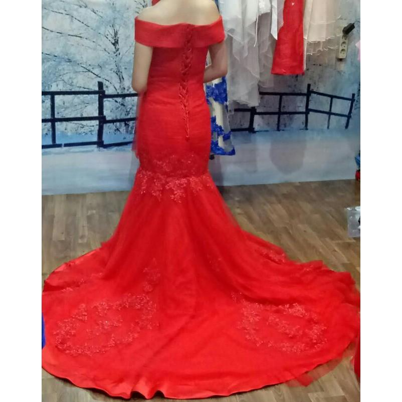 2017 Elegant Dress Burgundy Evening Dress Prom Dress Mermaid Off Shoulder Lace Tulle Long New Arrival Prom Dress robe de soiree