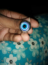 Vintage Blue Eye Fashion Punk Ring