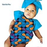 Unsixy Children Kids Baby Clothes Bazin Riche African Print Jumpsuit Onesies for Kids Children African Style Clothing WYT319